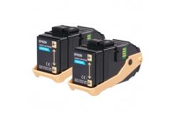 Epson C13S050608 2ks azurový (cyan) originální toner