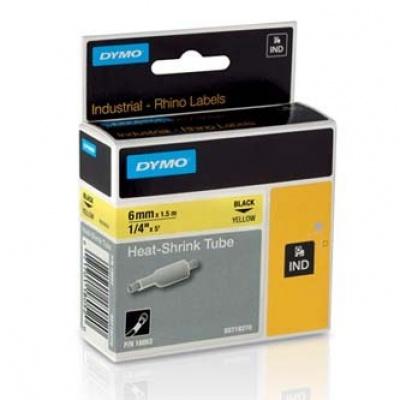Dymo Rhino 18052, S0718270, 6mm x 1,5m čierna tlač / žltý podklad, originálna páska