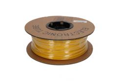 Popisovací smršťovací bužírka 2:1, bezhalog., samozháš., průměr 6,4/3,2mm, UL, žlutá, plochá, 30m