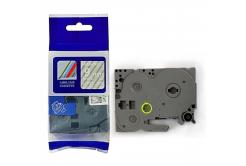 Kompatibilná páska s Brother TZ-125 / TZe-125, 9mm x 8m, biela tlač / priehľadny podklad