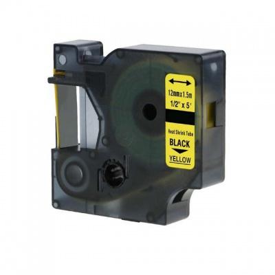 Kompatibilná páska s Dymo 18056, S0718310, Rhino, 12mm x 2,5m čierna tlač / žltý podklad