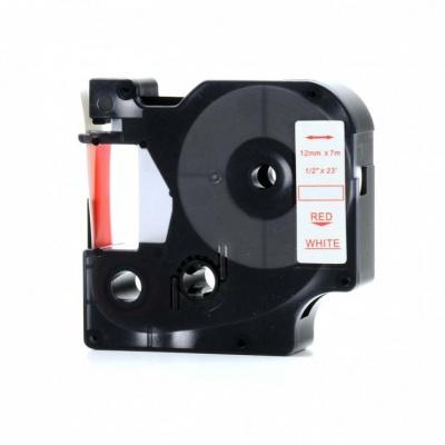 Kompatibilná páska s Dymo 45015, S0720550, 12mm x 7m, červená tlač/biely podklad