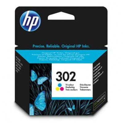 HP 302 F6U65AE barevná (color) originálna cartridge