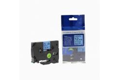 Kompatibilná páska s Brother TZ-531 / TZe-531, 12mm x 8m, čierna tlač / modrý podklad