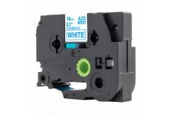 Kompatibilná páska s Brother TZ-FX243 / TZe-FX243, 18mm x 8m, flexi, modra tlač / biely podklad