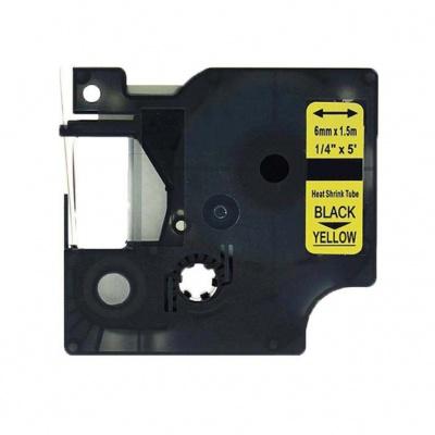 Kompatibilná páska s Dymo 18052, S0718270, Rhino, 6mm x 2,5m čierna tlač / žltý podklad