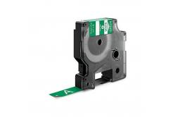 Kompatibilná páska s Dymo 1805414, Rhino, 12mm x 5,5m biela tlač / zelený podklad, vinyl
