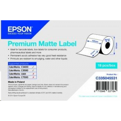 Epson C33S045531 label roll, normal paper, 102x51mm
