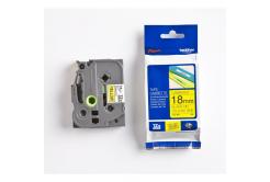Brother TZ-FX641 / TZe-FX641, 18mm x 8m, čierna tlač/žltý podklad, originálna páska