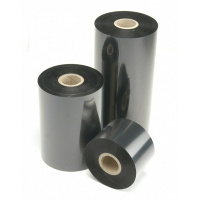 "TTR páska, vosková (wax), 110mm x 100m, 1/2"", OUT, čierna"