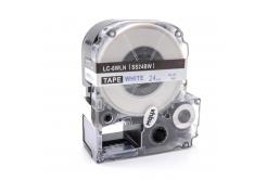 Epson LC-SS24BW, 24mm x 8m, modrý tisk / bílý podklad, kompatibilní páska