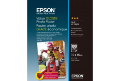 Epson Value Glossy Photo Paper, lesklý bílý foto papír, 10x15cm, 183 g/m2, 100 ks, C13S400039