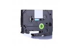 Kompatibilná páska s Brother TZ-FX425 / TZe-FX425, 9mm x 8m, flexi, biela tlač / červený podklad