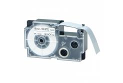 Kompatibilná páska s Casio XR-18WE1, 18mm x 8m, čierna tlač/biely podklad