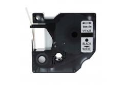 Kompatibilná páska s Dymo 43613, S0720780, 6mm x 7m, čierny tisk / biely podklad