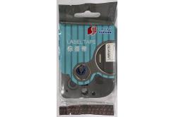 Samolepicí páska Supvan L-521E, 9mm x 8m, čierna tlač / modrý podklad, laminovaná
