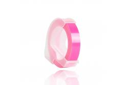 Dymo Omega, 9mm x 3m, biela tlač / fluorescenčný ružový podklad, kompatibilná páska