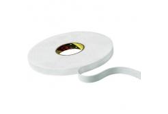 3M 9508W Montážní pěnová oboustranná páska, bílá, 19 mm x 3 m