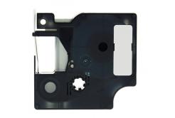 kompatibilná páska s Dymo 18485, Rhino, 9mm x 5,5m čierna tlač / metalický podklad, polyester