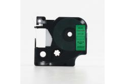 Kompatibilná páska s Dymo 45019, S0720590, 12mm x 7m, čierna tlač/zelený podklad