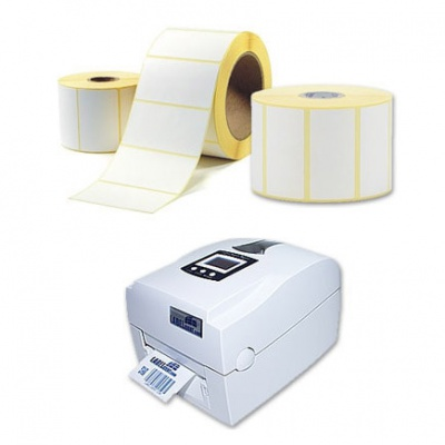 Samolepiace etikety 40x40 mm, 1000 ks, termo, role