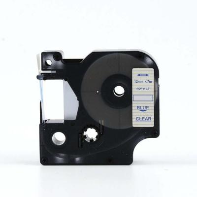 Kompatibilná páska s Dymo 45011, S0720510, 12mm x 7m, modrá tlač/priehľadný podklad