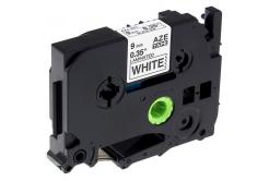 Brother TZe-FA221, 9mm x 3m, černý tisk / bílý podklad, zažehlovací, kompatibilní páska