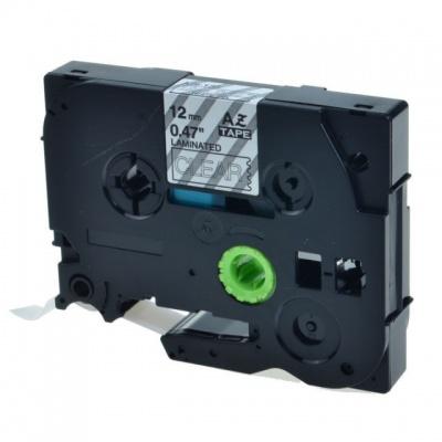 Kompatibilná páska s Brother TZ-S135 / TZe-S135, 12mm x 8m, extr.adh. biela tlač / priehľadný podklad