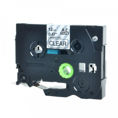 Kompatibilná páska s Brother TZ-131 / TZe-131, 12mm x 8m, čierna tlač / priehľadný podklad