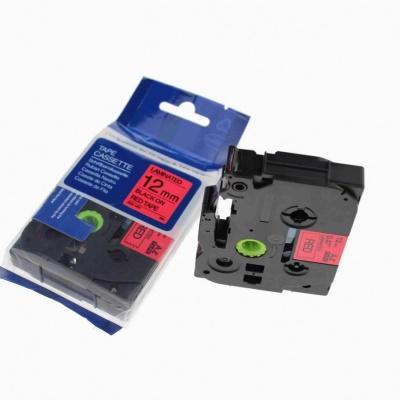 Kompatibilná páska s Brother TZ-431 / TZe-431, 12mm x 8m, čierna tlač / červený podklad