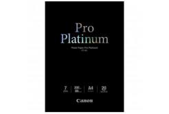 Canon Photo Paper Pro Platinum, foto papír, lesklý, bílý, A4, 300 g/m2, 20 ks, PT-101 A4, inkou