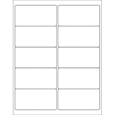 Samolepiace etikety 105 x 57 mm, 10 etikiet, A4, 100 listov