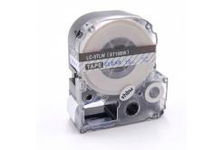 Epson LC-ST18BW, 18mm x 8m, modrý tisk / průhledný podklad, kompatibilní páska