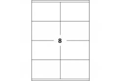 Samolepiace etikety 105 x 74 mm, 8 etikiet, A4, 100 listov