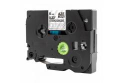 Kompatibilná páska s Brother TZ-S115 / TZe-S115, 6mm x 8m, extr.adh. biela tlač / priehľadný podklad