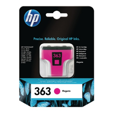 HP 363 C8772EE purpurová (magenta) originální cartridge, prošlá expirace