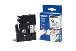 Brother TZ-N221, 9mm x 8m, čierna tlač/biely podklad, originálna páska