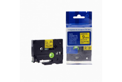 Kompatibilná páska s Brother TZ-621 / TZe-621, 9mm x 8m, čierna tlač / žltý podklad
