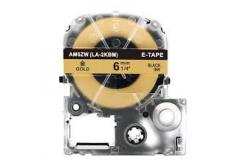 Epson LC-SM6ZW, 6mm x 8m, černý tisk / zlatý podklad, kompatibilní páska