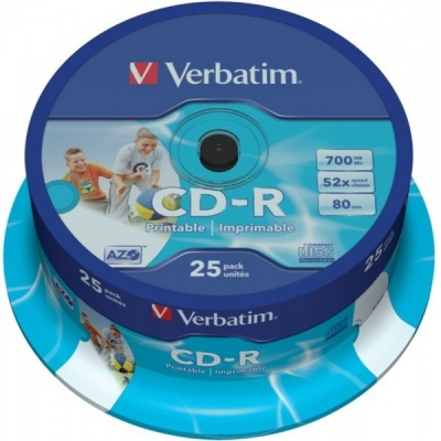 CD-R Verbatim DL+ 80min Printable SPINDL