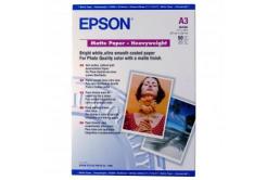 Epson Matte Paper Heavyweight, foto papír, matný, silný, bílý, Stylus Photo 1270, 1290, A3, 16