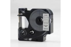 Kompatibilná páska s Dymo 18444, Rhino, 12mm x 5,5m čierna tlač / biely podklad, vinyl