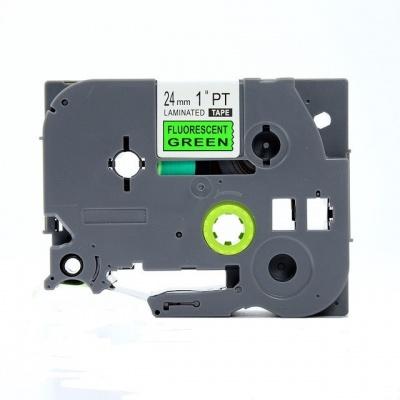 Kompatibilná páska s Brother TZ-D51/TZe-D51, signálne 24mm x 8m, čierna tlač/zelený podklad