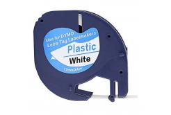 Kompatibilná páska s Dymo 59422,S0721560 / 91221,S0721660, 12mm x 4m, čierna tlač / biely podklad