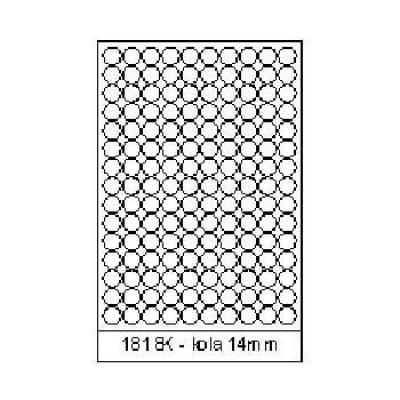 Samolepiace etikety 18 x 18 mm, 150 etikiet, A4, 100 listov