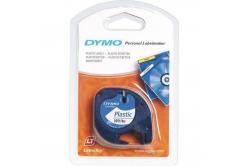 Dymo LetraTag 59422, S0721560, 12mm x 4m, čierna tlač/biely podklad, originálna páska
