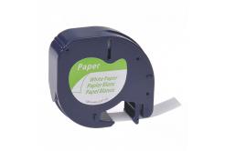 Kompatibilná páska s Dymo 59421,S0721500 / 91220,S0721520,12mm x 4m, čierny tisk/bílý podk