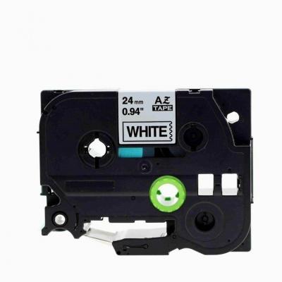 Brother TZe-V251, 24mm x 5,5m, černý tisk / bílý podklad, vinyl, kompatibilní páska