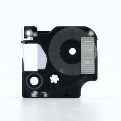 Kompatibilná páska s Dymo 45020, S0720600, 12mm x 7m, biela tlač/priehľadný podklad