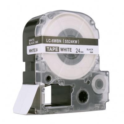 Epson LC-SS24KW, 24mm x 8m, černý tisk / bílý podklad, kompatibilní páska